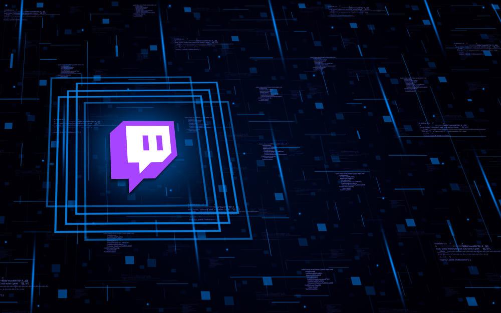 Twitch logo avec fond
