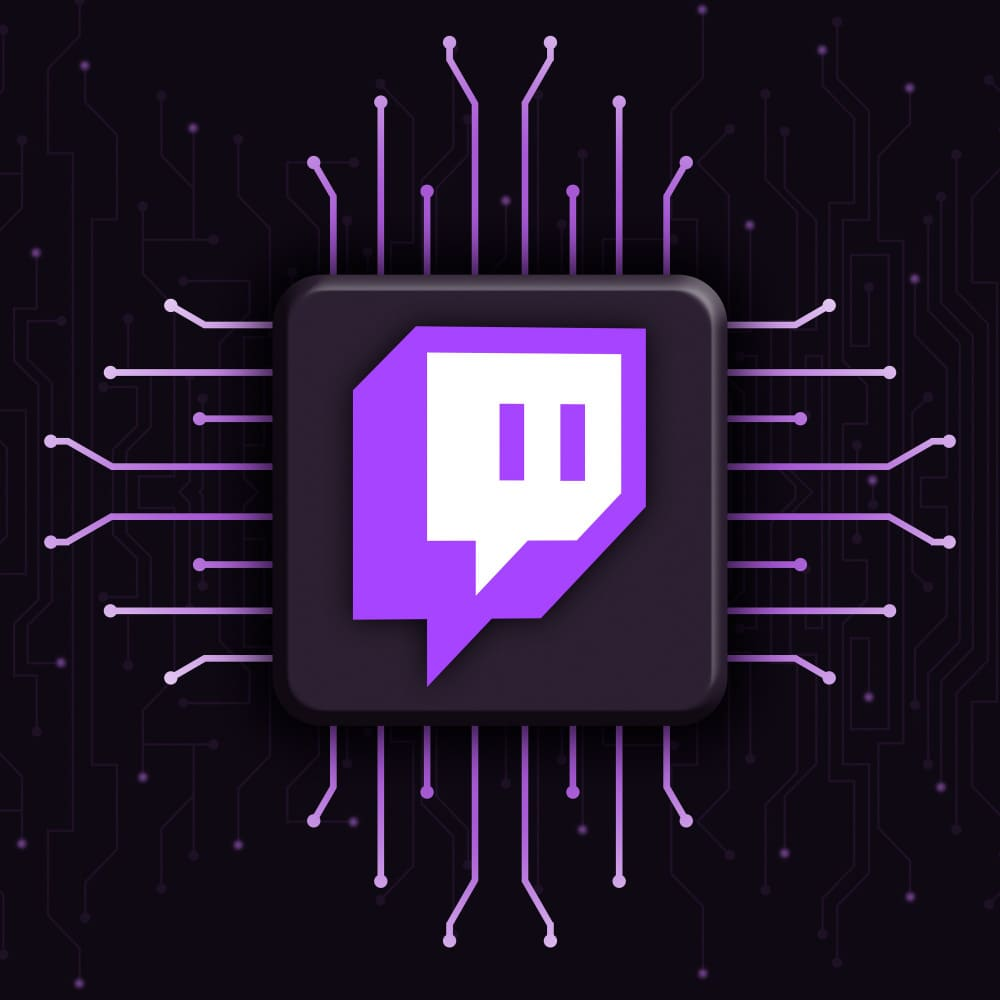 Twitch logo puce